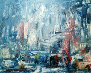 Deep Bay Marina original oil painting